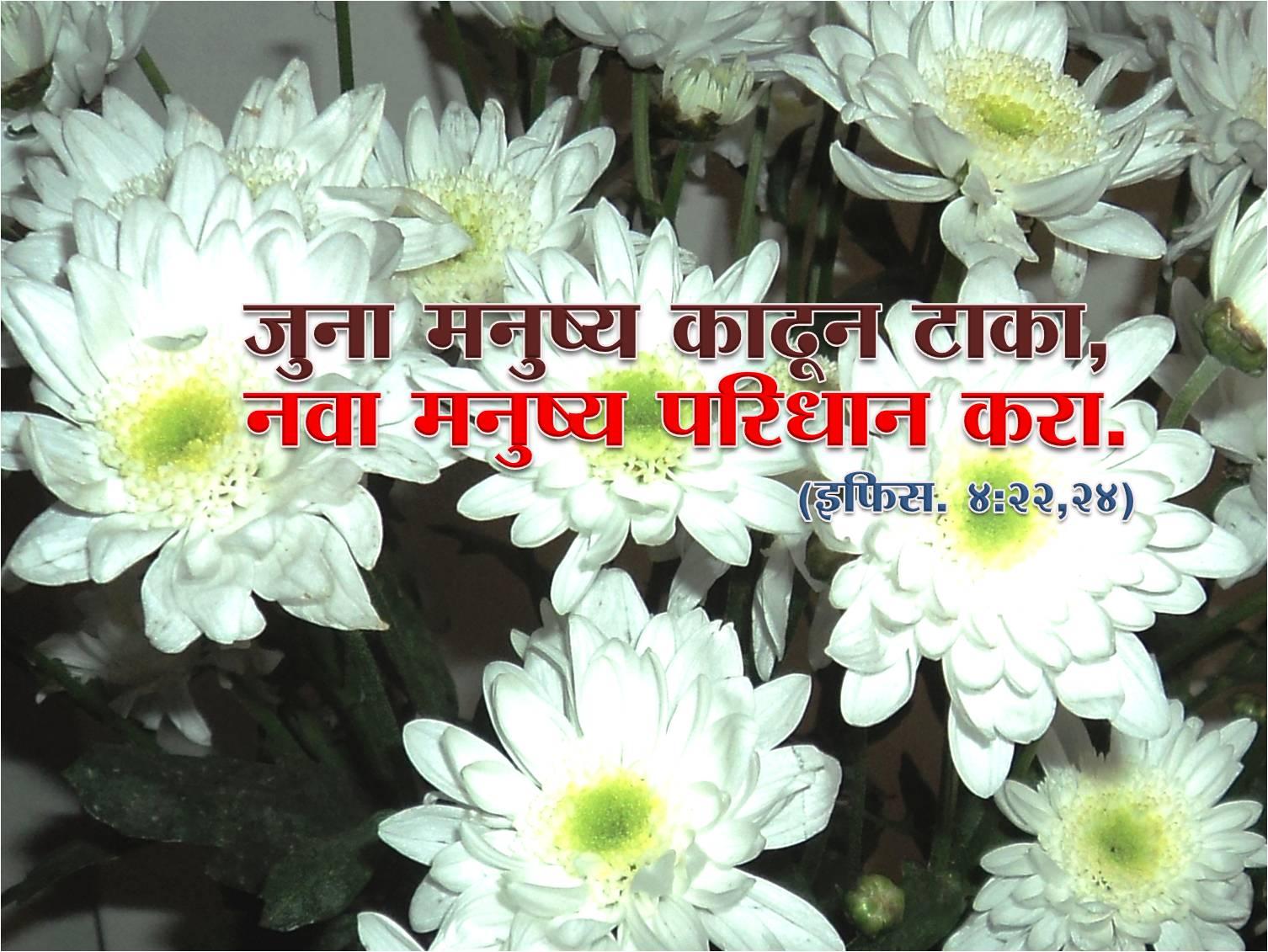 Marathi Bible Wallpaper for New Year 2013  Nava Karar (Marathi